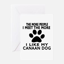 I Like More My Canaan Dog Greeting Card