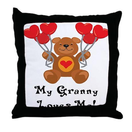 My Granny Loves Me! Throw Pillow