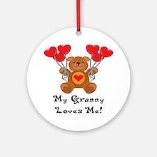 My Granny Loves Me! Ornament (Round)
