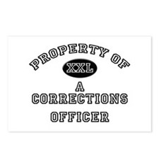 Property of a Corrections Officer Postcards (Packa