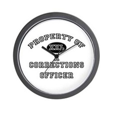 Property of a Corrections Officer Wall Clock
