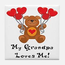My Grandpa Loves Me! Tile Coaster