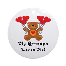 My Grandpa Loves Me! Ornament (Round)