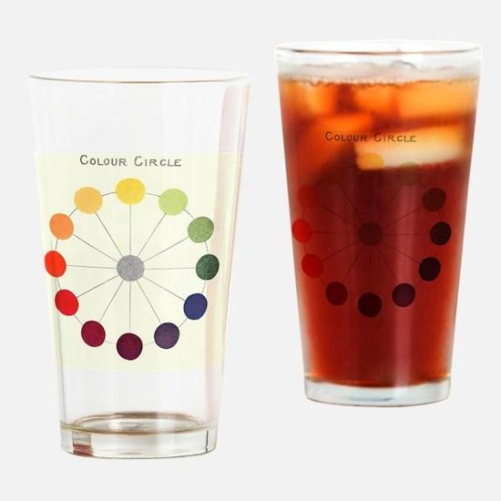 Unique Color wheel Drinking Glass