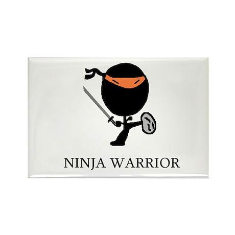Ninja Warrior Rectangle Magnet