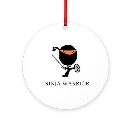 Ninja Warrior Ornament (Round)