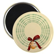 "Binary Wreath 2.25"" Magnet (10 pack)"