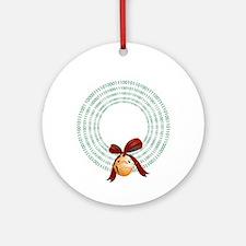 Binary Wreath Ornament (Round)