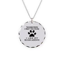 I Like More My Bernese Belgi Necklace Circle Charm