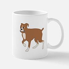 Cartoon Boxer Trotting Mugs