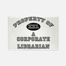 Property of a Corporate Librarian Rectangle Magnet
