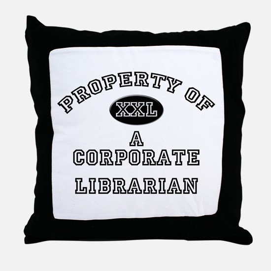 Property of a Corporate Librarian Throw Pillow
