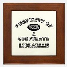 Property of a Corporate Librarian Framed Tile
