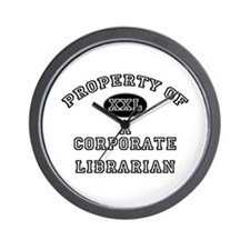 Property of a Corporate Librarian Wall Clock
