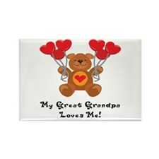 My Great Grandpa Loves Me! Rectangle Magnet (100 p