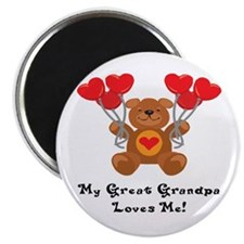 "My Great Grandpa Loves Me! 2.25"" Magnet (100 pack)"