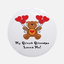 My Great Grandpa Loves Me! Ornament (Round)