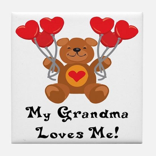 My Grandma Loves Me! Tile Coaster