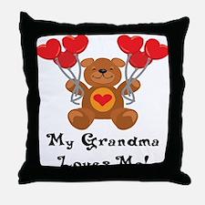 My Grandma Loves Me! Throw Pillow