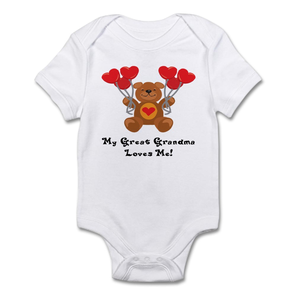 CafePress My Great Grandma Loves Me Infant Bodysuit Baby Bodysuit 170515830
