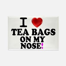 I LOVE TEA BAGS ON MY NOSE! Magnets