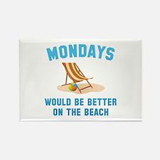 Mondays On The Beach Rectangle Magnet