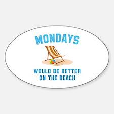 Mondays On The Beach Decal