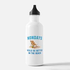 Mondays On The Beach Water Bottle