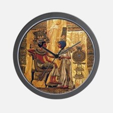 Tutankhamun Ankhesenamun Egypt Gold Wall Clock