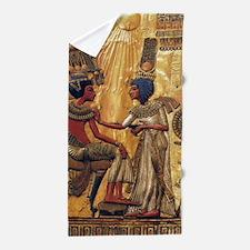 Tutankhamun Ankhesenamun Egypt Gold Beach Towel