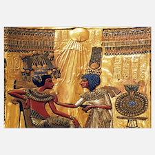 Tutankhamun Ankhesenamun Egypt Gold Wall Art