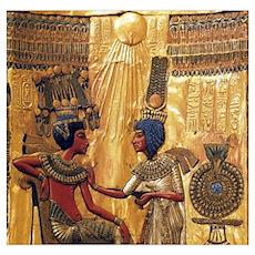 Tutankhamun Ankhesenamun Egypt Gold Wall Art Poster