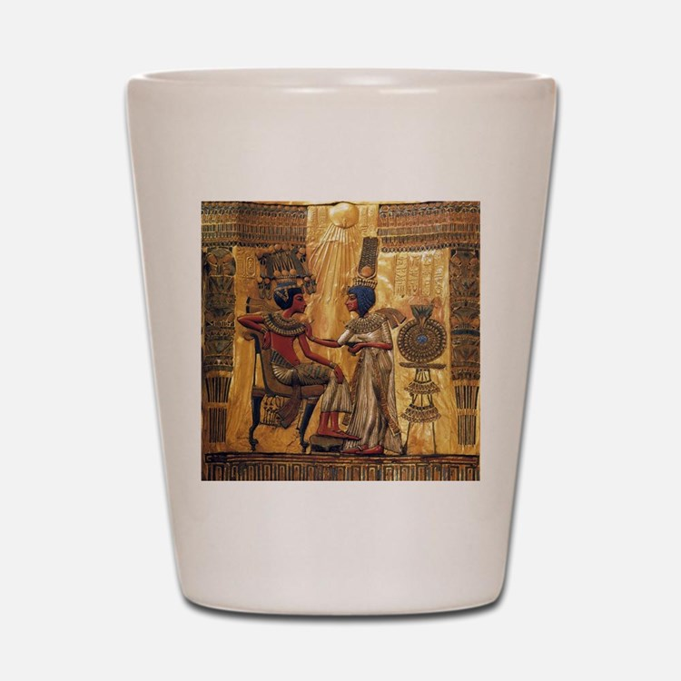 Tutankhamun Ankhesenamun Egypt Gold Shot Glass