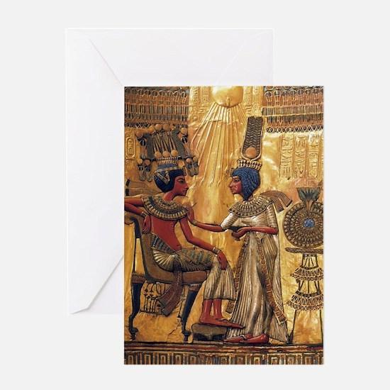 Tutankhamun Ankhesenamun Egypt Gold Greeting Card