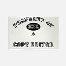 Property of a Copy Editor Rectangle Magnet