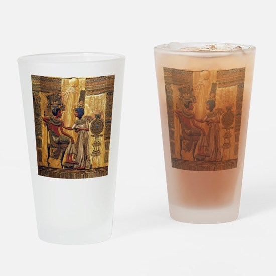 Tutankhamun Ankhesenamun Egypt Gold Drinking Glass