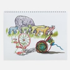 Sheep 2 Shawl Wall Calendar
