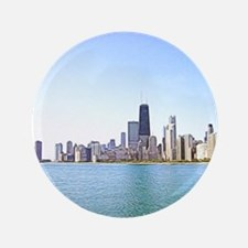 Airbrushing of Chicago Skyline Button