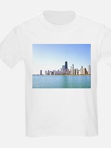 Airbrushing of Chicago Skyline T-Shirt
