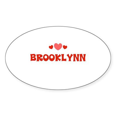 Brooklynn Oval Sticker