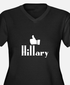 Hillary Women's Plus Size V-Neck Dark T-Shirt