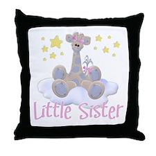 Giraffe Little Sister Throw Pillow