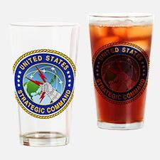 U S Strategic Command Logo Drinking Glass