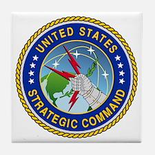 U S Strategic Command Logo Tile Coaster