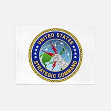 U S Strategic Command Logo 5'x7'Area Rug