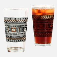 Tribal Design Drinking Glass