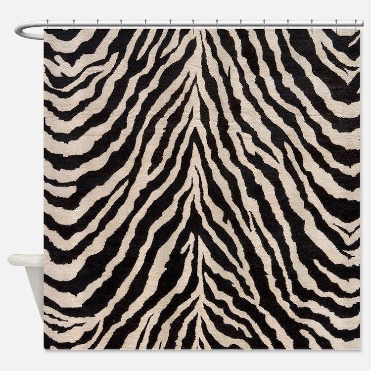 brown zebra shower curtains brown zebra fabric shower curtain liner