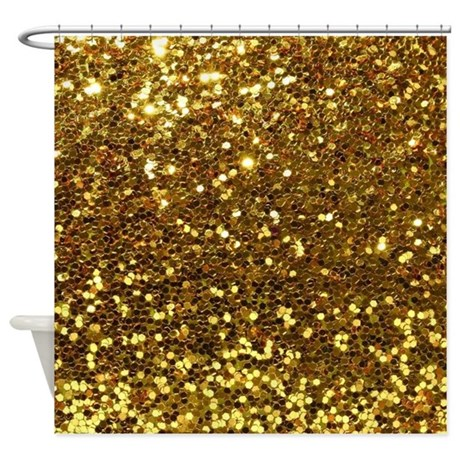 Luxurious glamorous designs shower curtain by