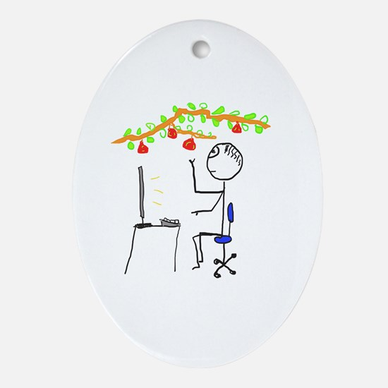 Cute Expressions and sayings Oval Ornament