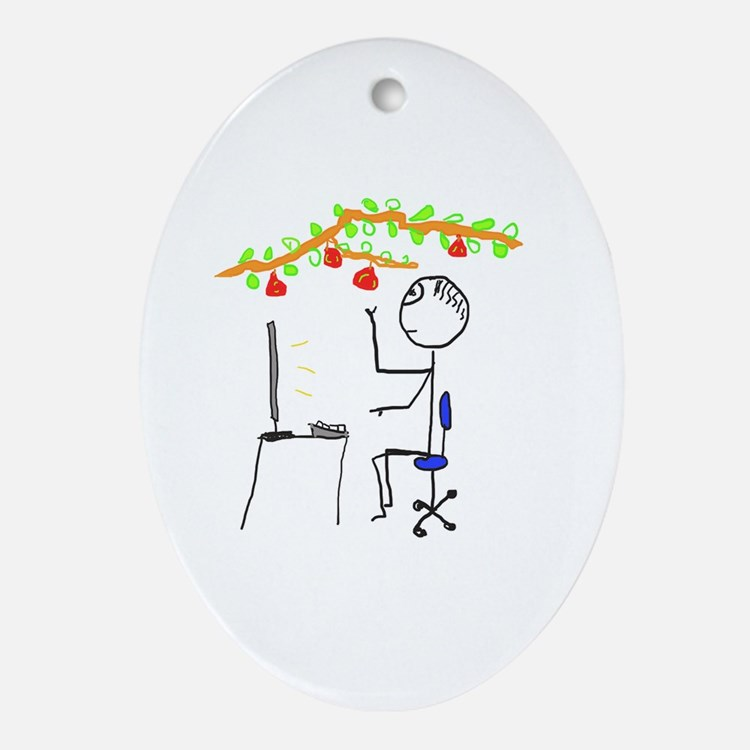 Cute Hanging Oval Ornament